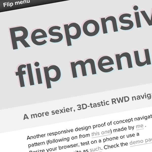 Flip menu